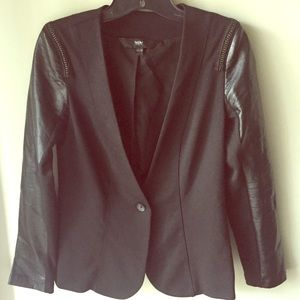 MOSSIMO - Faux Leather Sleeved Blazer